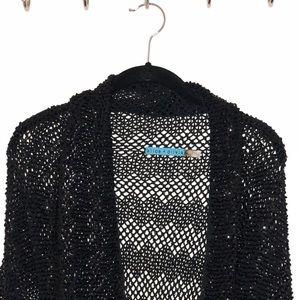 Alice + Olivia Sequin Cotton Knit Shrug